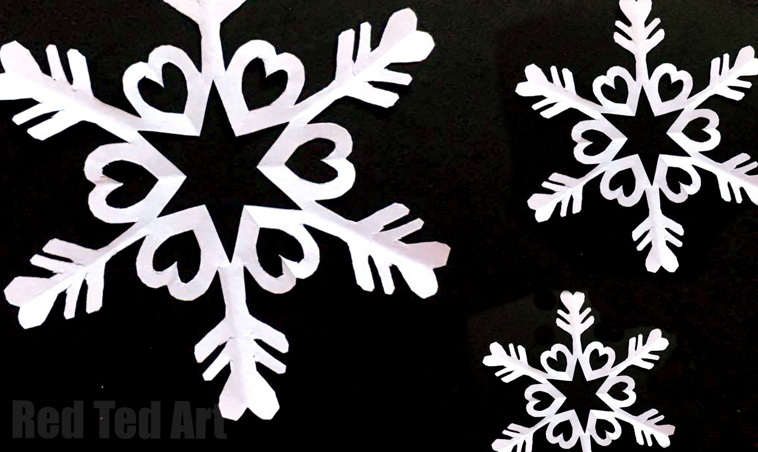 Paper Snow Flakes image via Red Ted Art