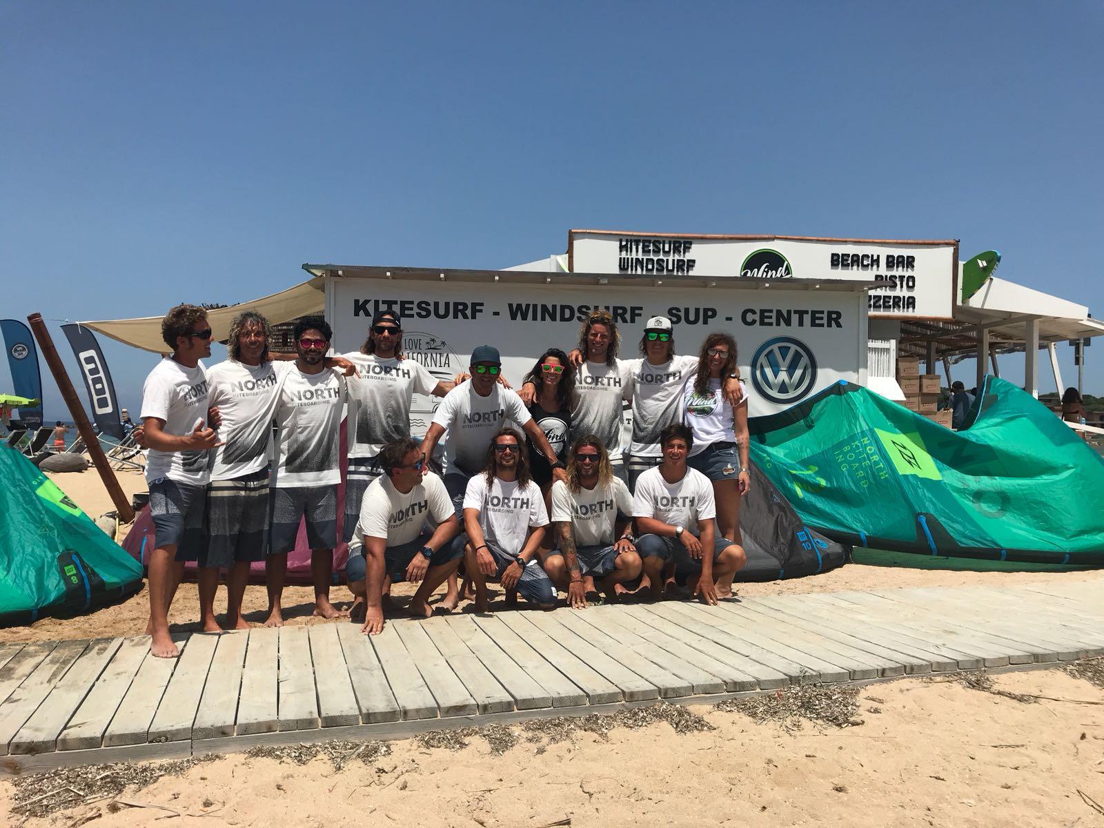 Team internazionale Scuola Kite Wind Porto Pollo Centre