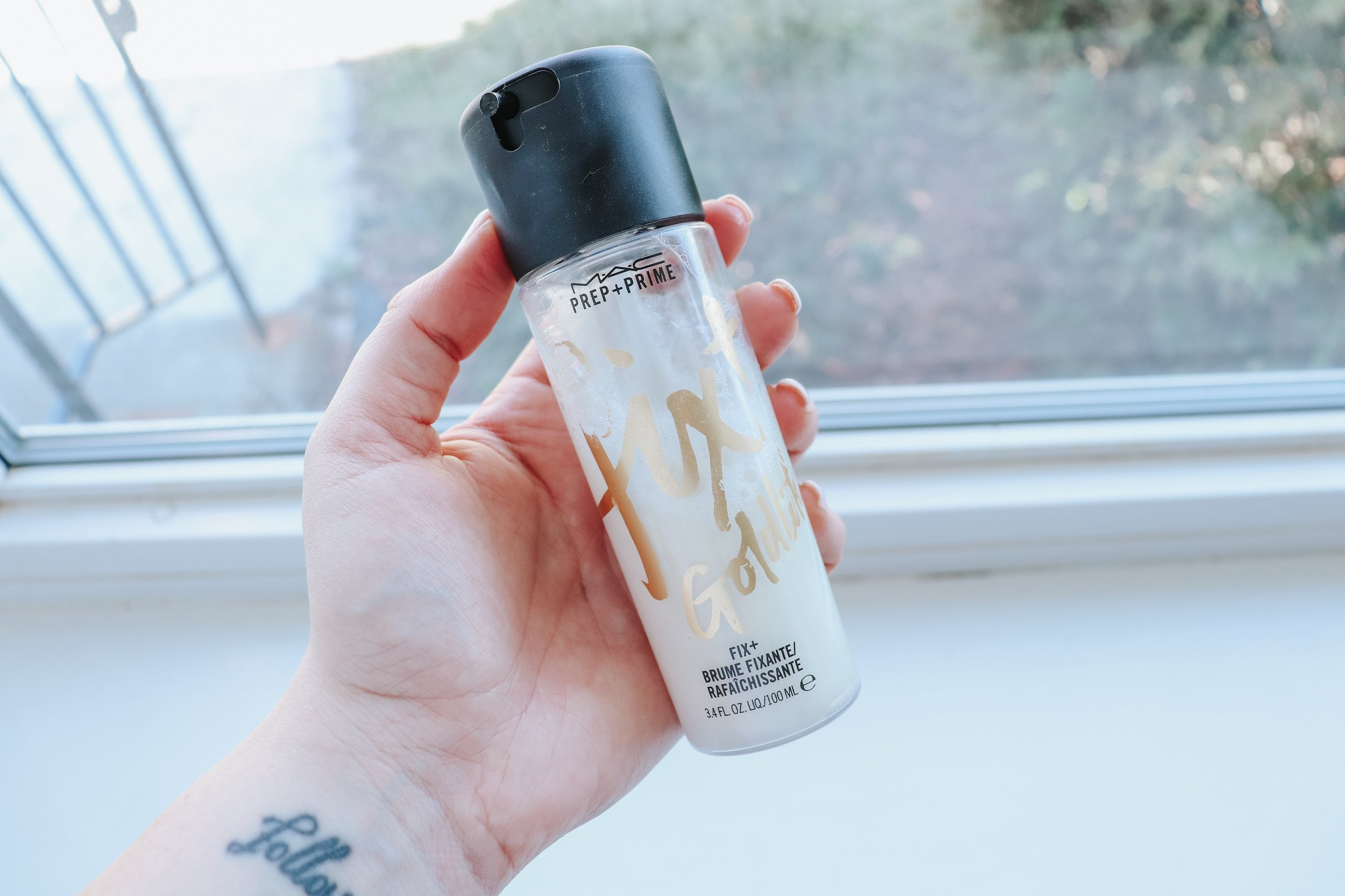 """I am a huge fan of Mac Fix+ so when I saw this one, which has """"pearlescent particles for the ultimate glow"""" I had to try it! I will say, I used it the first time as just a setting spray and didn't really see a difference. BUT the second time I used it after my moisturizer, under my foundation, then again as a setting spray and IT WAS FREAKING AMAZING! My skin looked so glowy!"""