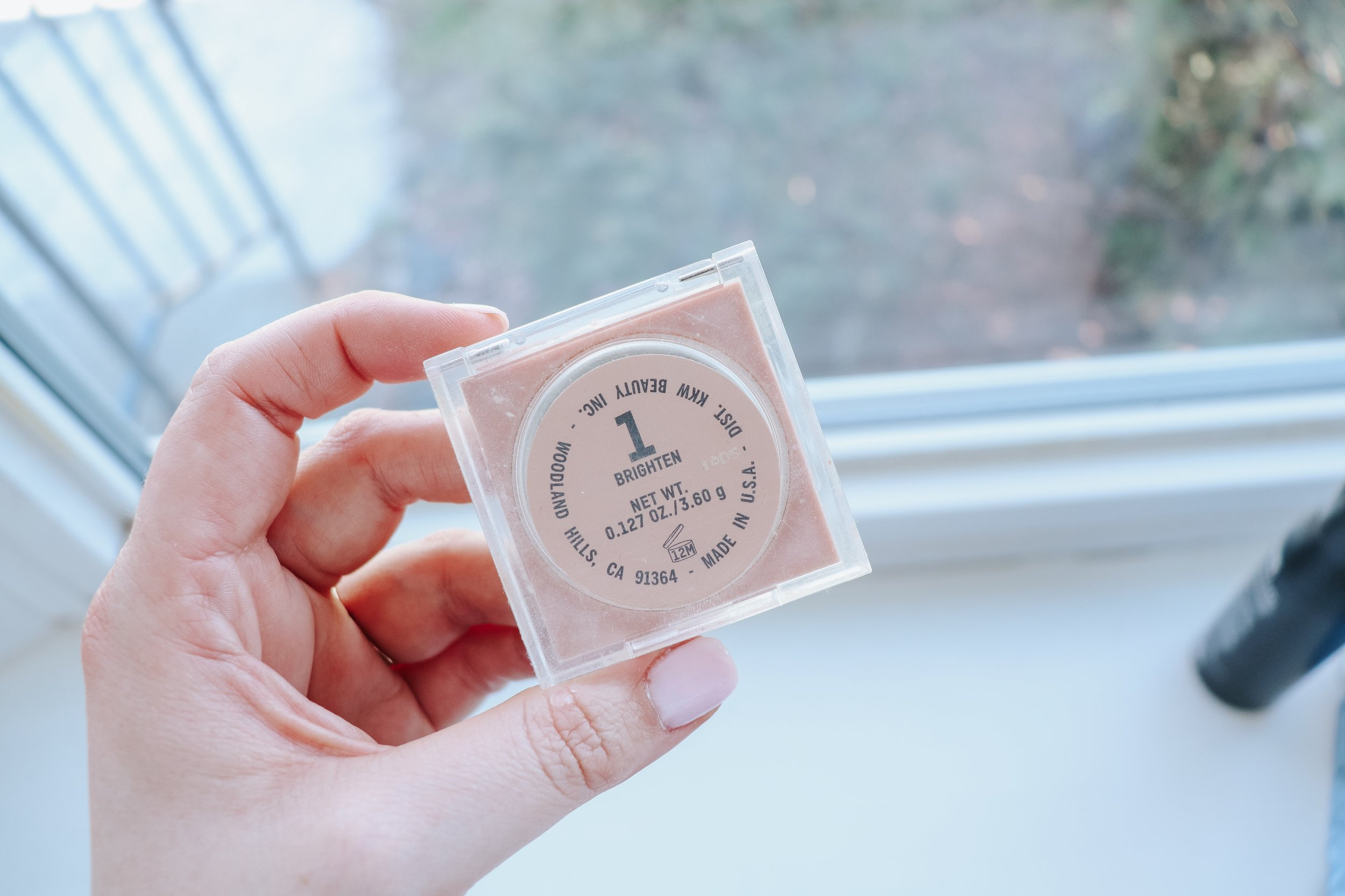 This right here is a nifty little product. I had to play around with it a bit but I dust a little bit of it under my eyes at the end of my makeup routine and it helps blend my blush and under eye together and adds just enough brightness if i'm needing it!