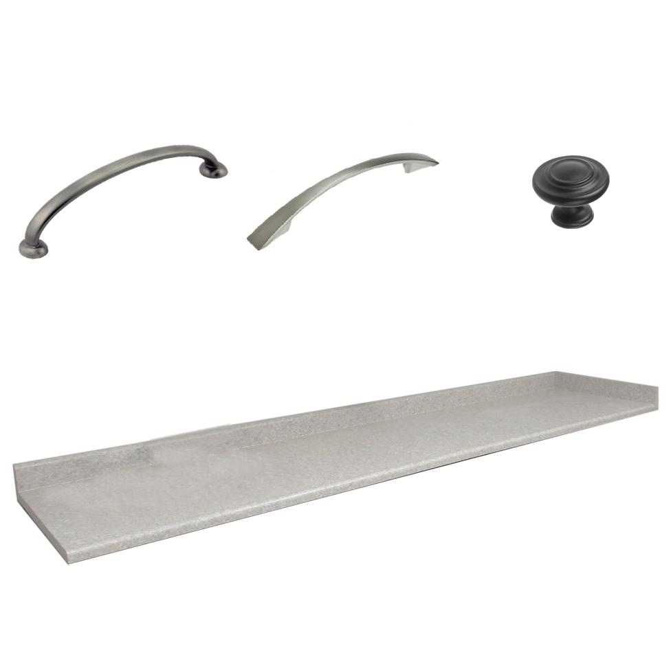 Add Handles & laminate counter tops: $990 -