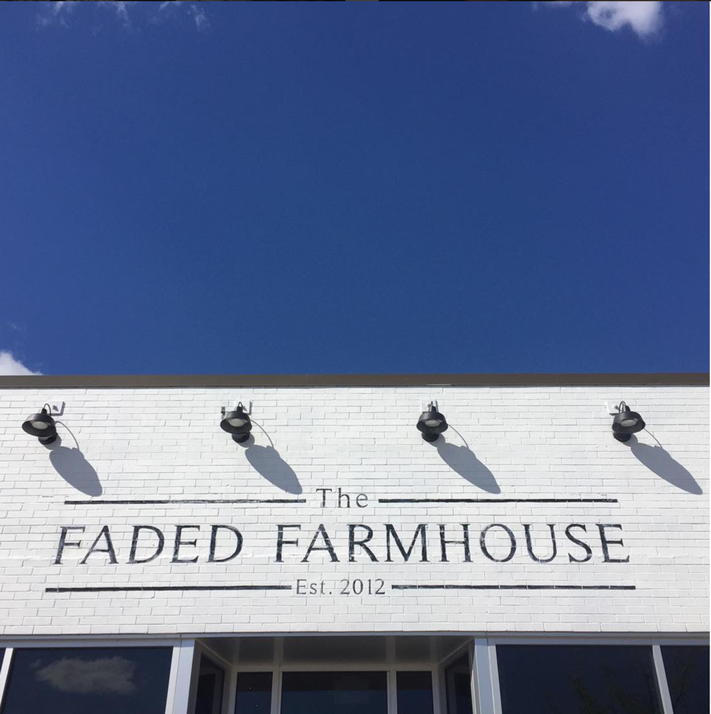 Handpainted Sign for The Faded Farmhouse