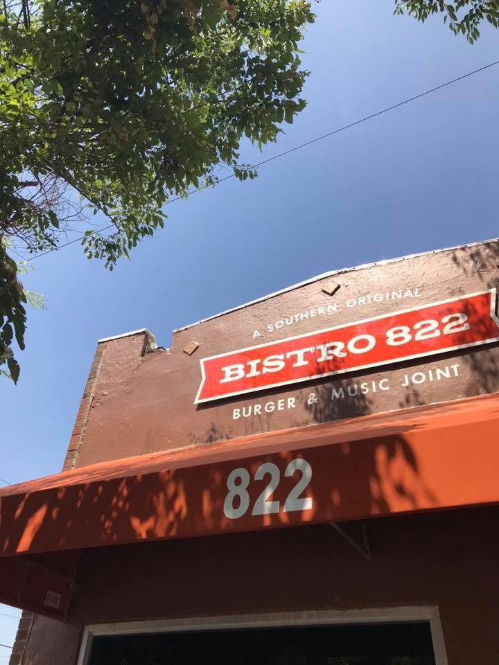 Steel Cut sign for Bistro 822