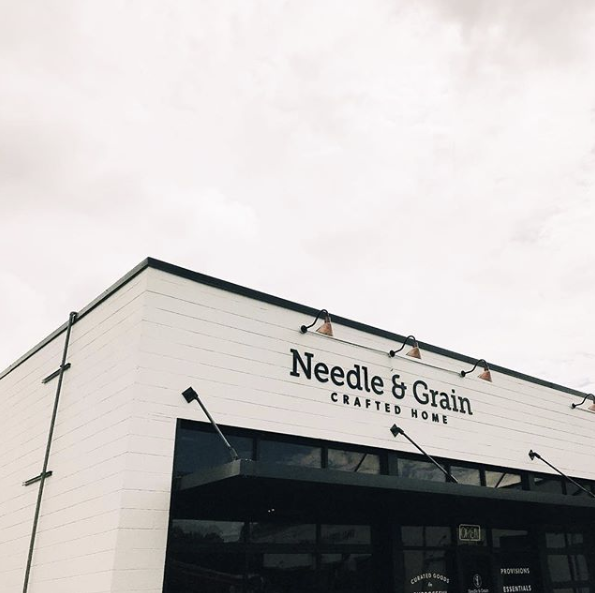Laser Cut Acrylic Sign for Needle & Grain