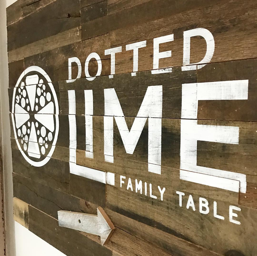 Barnwood Wayfinding sign for The Dotted Lime