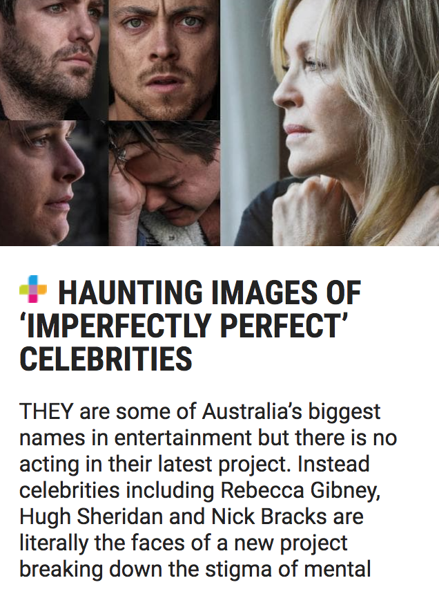 The Daily Telegraph - Haunting Images of 'Imperfectly Perfect' Celebrities