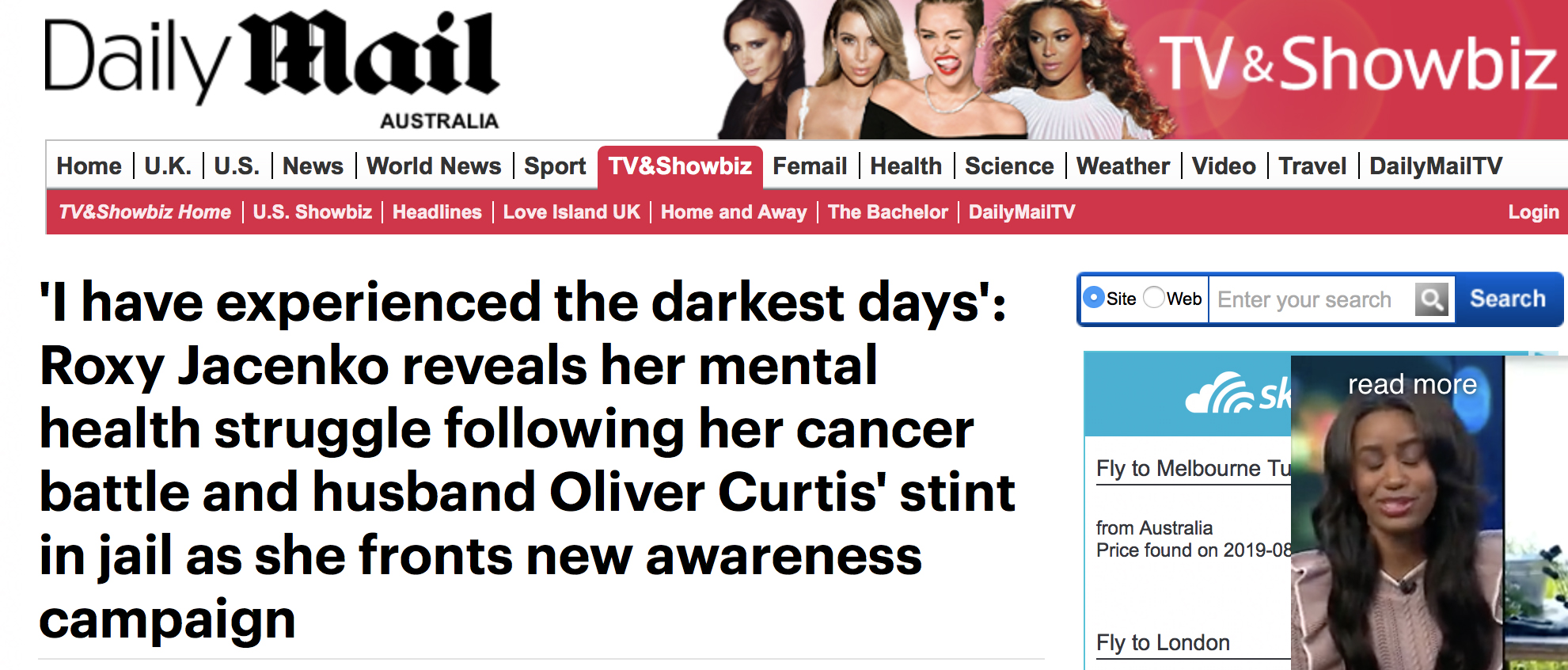 Daily Mail Australia - Roxy Jacenko reveals her mental health struggle as she fronts new awareness campaign.