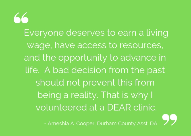 Everyone deserves to earn a living wage, have access to resources, and the opportunity to advance in life. A bad decision from the past should not prevent this from being a reality. That is why I volunteered at a .jpg