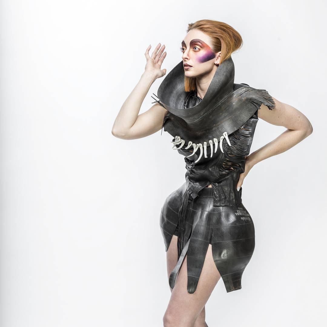 Brigid KO - Inner Tubes, Ceramics - Photographer Jack Parker, model, Adrienne Wiest