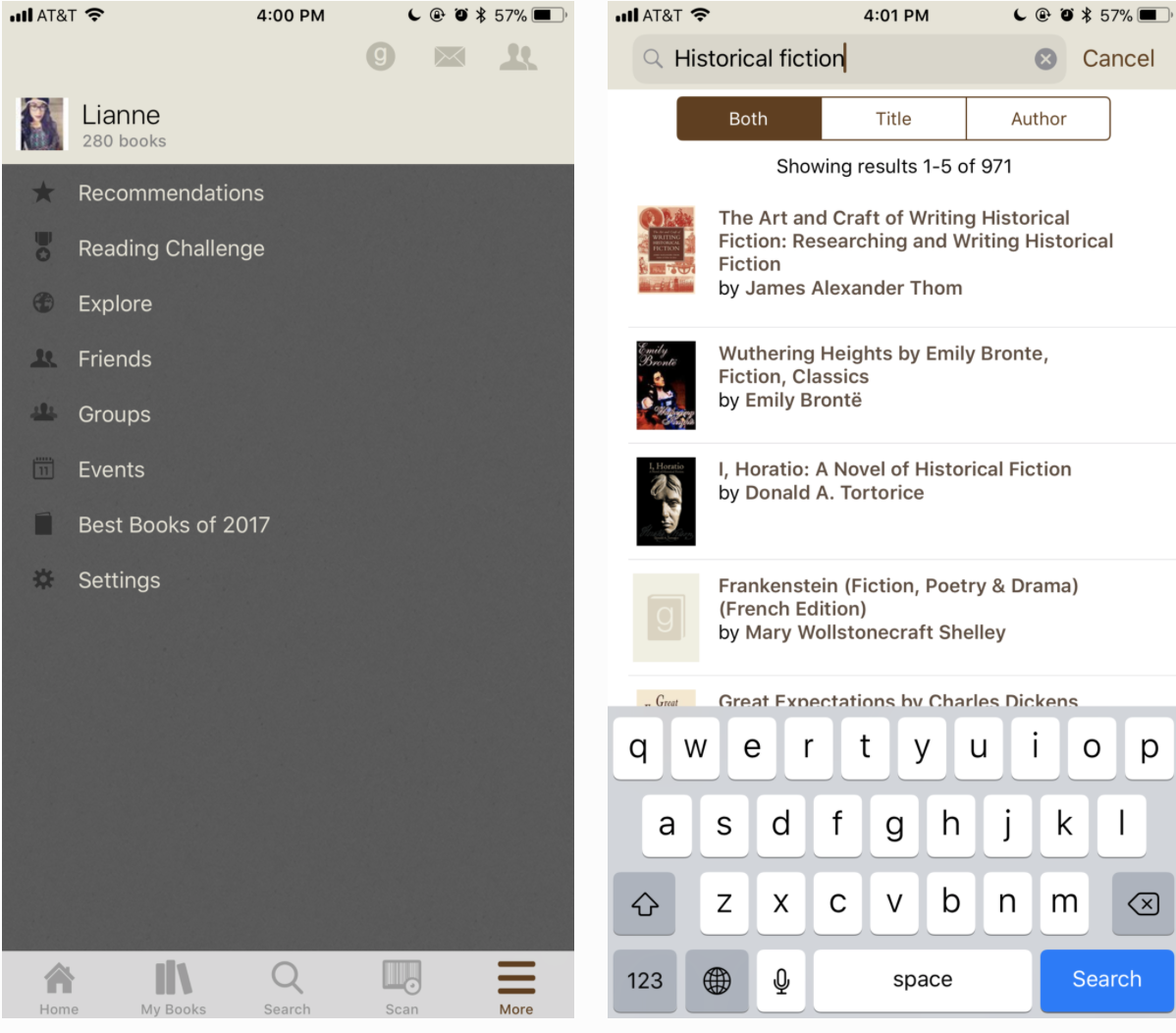 Rethinking the Goodreads iOS Experience -