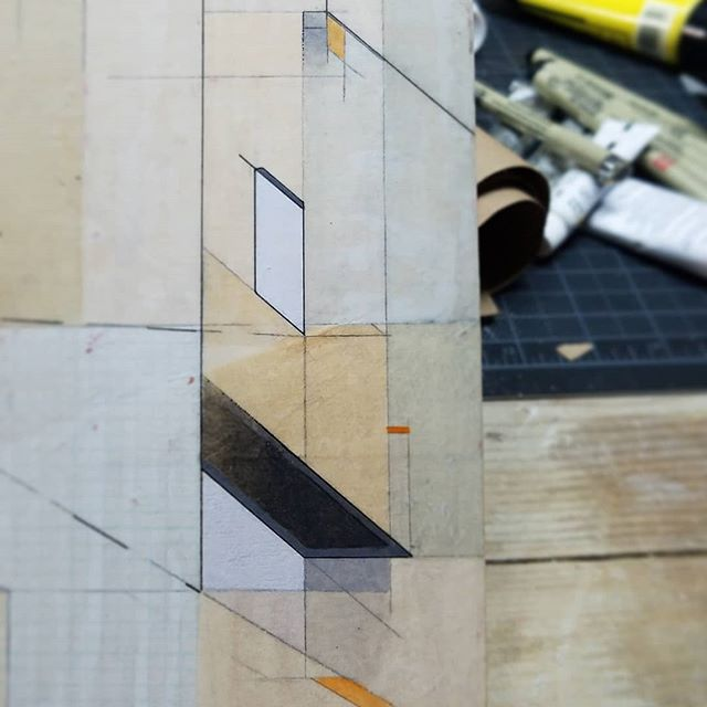 Transparent planes. #acrylic #paper #wood #micron #graphite #allkindsofothermaterialsandtools