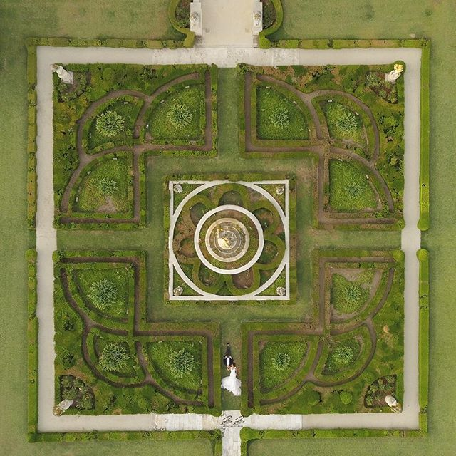 Life is like a maze but love shows us the way. #jayjaystudios  Drone shot at Princess Pasadena. @weddingestates