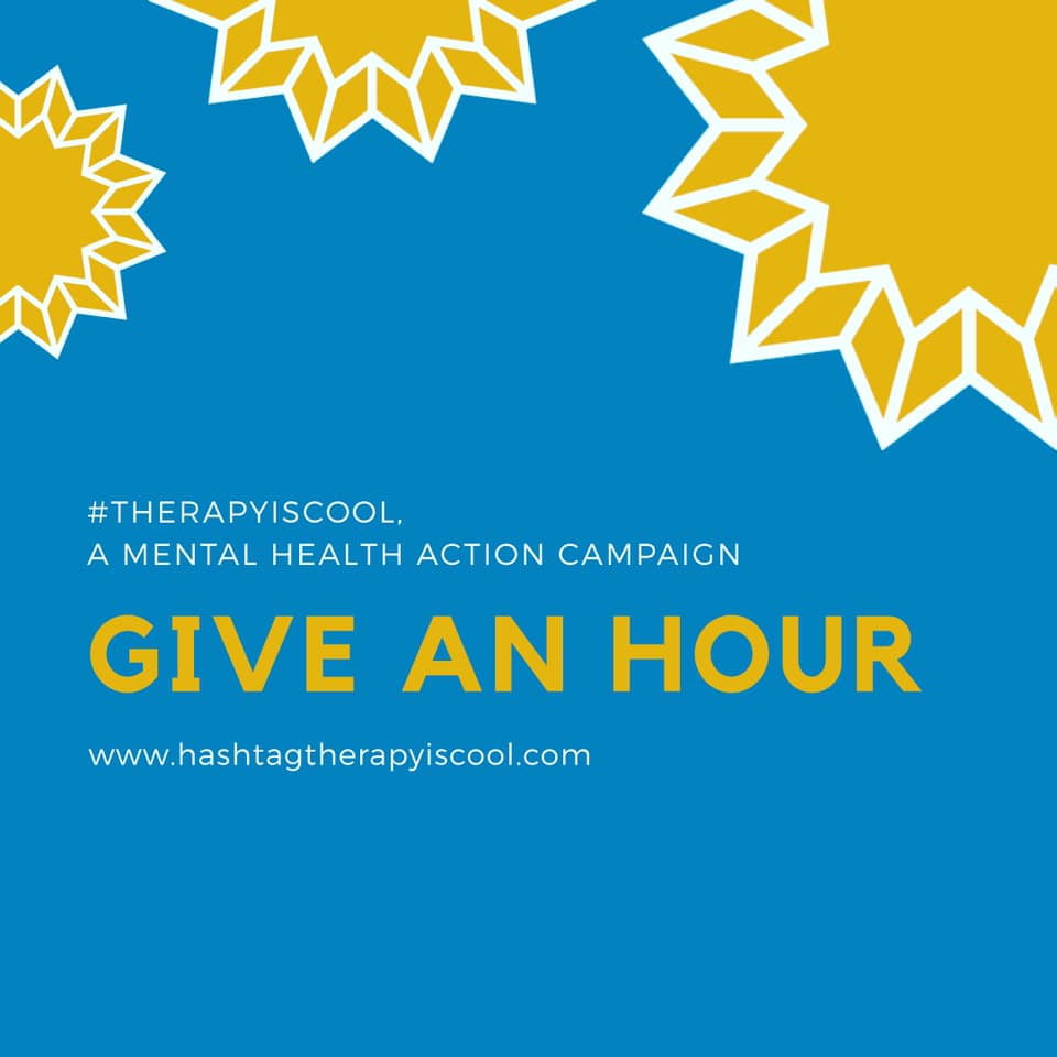 The  #therapyiscool  mental health action campaign is taking a trip to Bethesda, MD in support of community efforts to make mental health treatment more accessible nationwide through the use of both in-person and teletherapy.  Proceeds from the purchases of #therapyiscool tote bags during the month of May will be donated to Give an Hour.  Below is a little information provided by our friends at  Give an Hour  :  ① Name of the organization: Give an Hour  ② Founded in: 2005  ③ Services provided: Give an Hour provides free mental health care to active duty, National Guard and Reserve service members, veterans, and their families. Equipped with nearly 7,000 mental health professionals who have volunteered, Give an Hour has given more than 250,000 hours of care valued at over $25M.  ④ Population served: In addition to providing free mental health care to active duty, National Guard and Reserve service members, veterans, and their families, Give an Hour offers support to at-risk teens, survivors of natural disasters and survivors of gun violence.  ⑤How does Give an Hour use their donated funds: Contributions help Give an Hour continue to provide free mental health care to those in need.  To learn more about Give an Hour, please visit https://giveanhour.org/