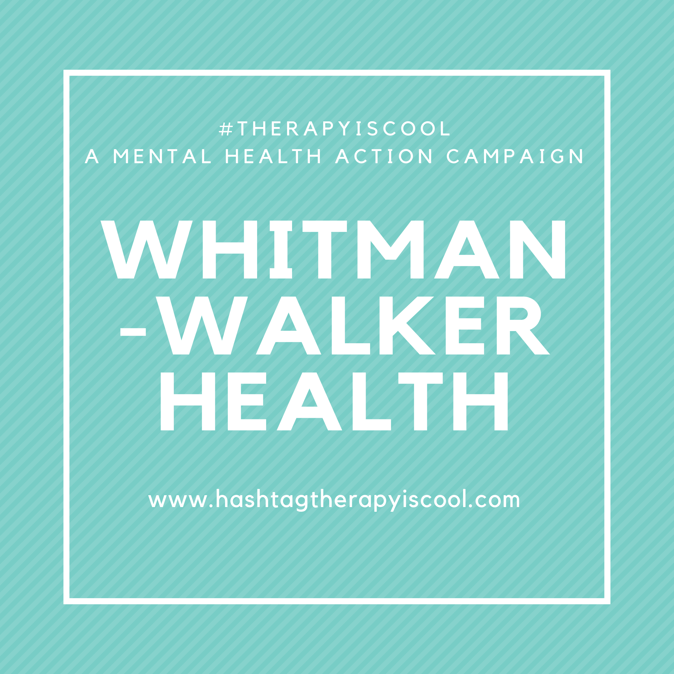 The    #therapyiscool    mental health action campaign is taking up shop in Washington D.C. in support of community efforts to make mental health treatment more accessible.  Proceeds from the purchases of    #therapyiscool    tote bags and t-shirts during the month of July will be donated to the Whitman-Walker Health.  Below is a little information provided by our friends at the Whitman-Walker Health:  ① Name of the organization: Whitman-Walker Health (WWH) ② Founded in: 1978 ③ Services provided:   Our Behavioral Health programs include peer support, substance use services, mental health, and psychiatry. We offer services to both adults and youth. Individual and group therapy options are offered.    ④ Population served: Whitman-Walker Health offers affirming community-based health and wellness services to all with a special expertise in LGBTQ and HIV care. We empower all persons to live healthy, love openly, and achieve equality and inclusion.  ⑤How does the Whitman-Walker Health use their donated funds: Donations allow us to provide high-quality, compassionate care for all members of our community, regardless of their ability to pay. Your support helps ensure that we continue to be a place where the gay, lesbian, bisexual, transgender and queer communities, as well to those living with or affected by HIV feel supported, welcomed and respected.     To learn more about Whitman-Walker Health, please visit   https://www.whitman-walker.org/