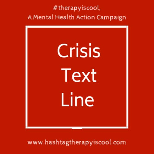 The    #therapyiscool    mental health action campaign is heading back to New York City in support of community efforts to make crisis mental health services more accessible.    In honor of September being National Suicide Prevention Month, proceeds from the purchases of #therapyiscool tote bags and t-shirts during the month of September will be donated to the Crisis Text Line.    Below is a little information provided by our friends at the Crisis Text Line: ① Name of the organization: Crisis Text Line ② Founded in: 2013 ③ Services provided: Crisis Text Line is free, 24/7 support for those in crisis. Text 741741 from anywhere in the US to text with a trained Crisis Counselor. Crisis Text Line also trains volunteers to support people in crisis. ④ Population served: Anyone can text 741741 when in crisis, available 24/7 in the United States. Crisis Text Line is also now available in Canada and United Kingdom. ⑤How does the Crisis Text Line use their donated funds: Supporting our Crisis Counselor community with better products and more emotional support. Integrating with tech companies to provide support to users inside things like After School, YouTube, and Facebook Messenger. White labeling our service for other orgs and locations-- providing a free text service for the National Eating Disorder Association and cities like Newark and Atlanta.    To learn more about the Crisis Text Line, please visit   https://www.crisistextline.org/