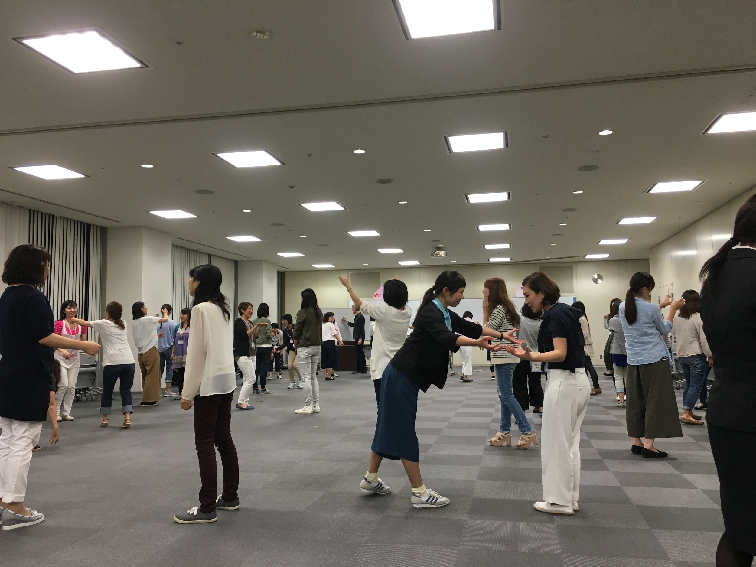 Workshop for Yamaha Corp for 70 teachers on retreat, focusing on communication and cooperative learning.