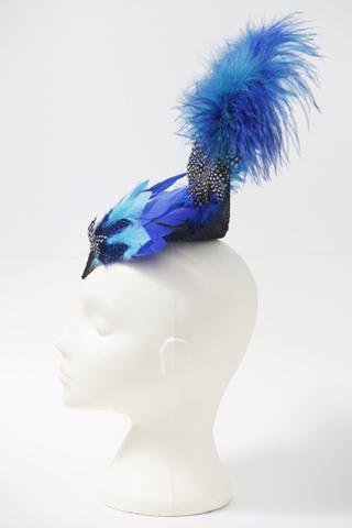 Blue showgirl, side