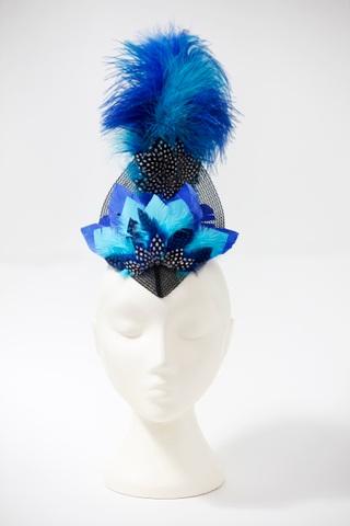 Blue showgirl, front