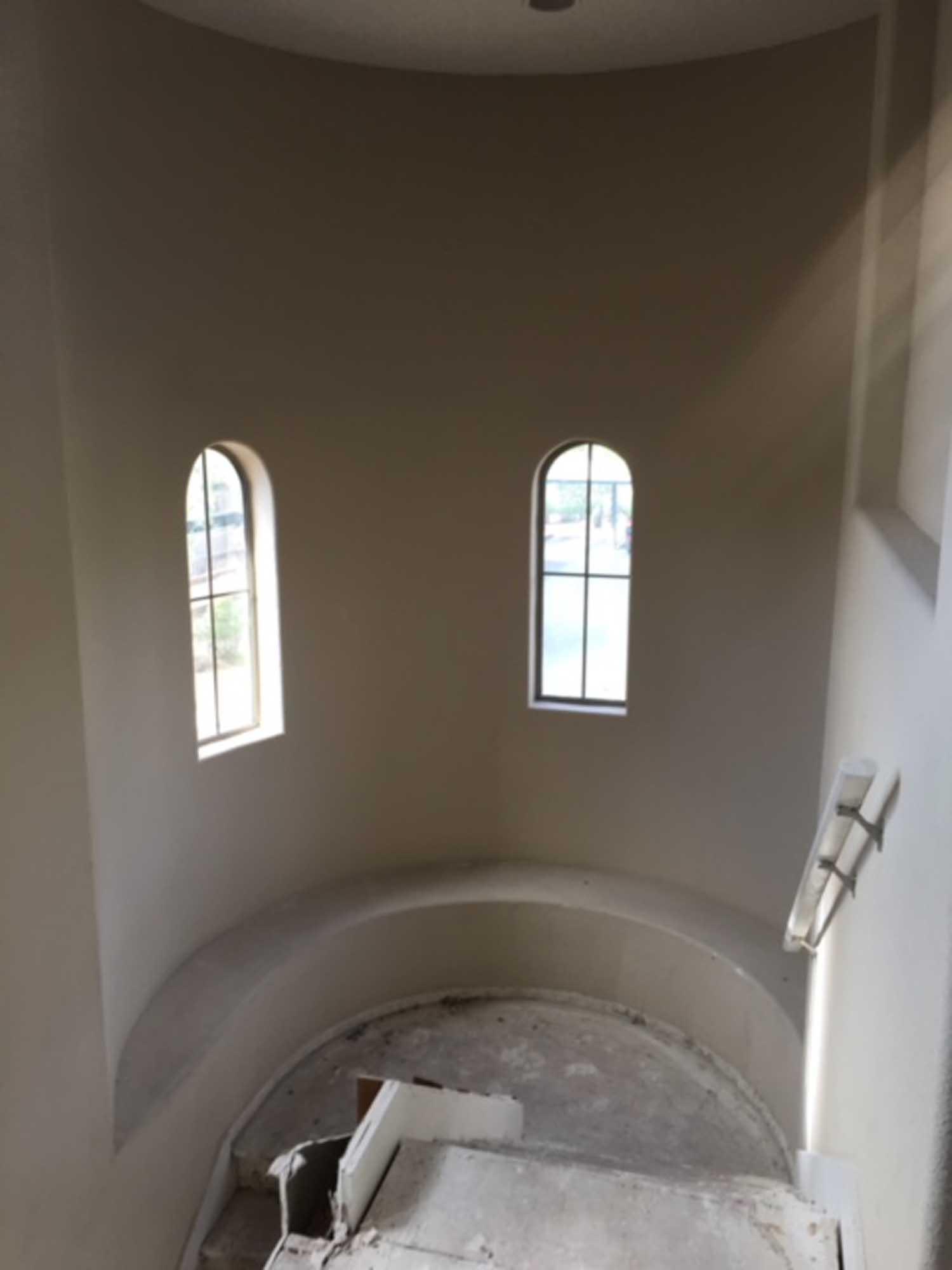 Curve design concrete staircase
