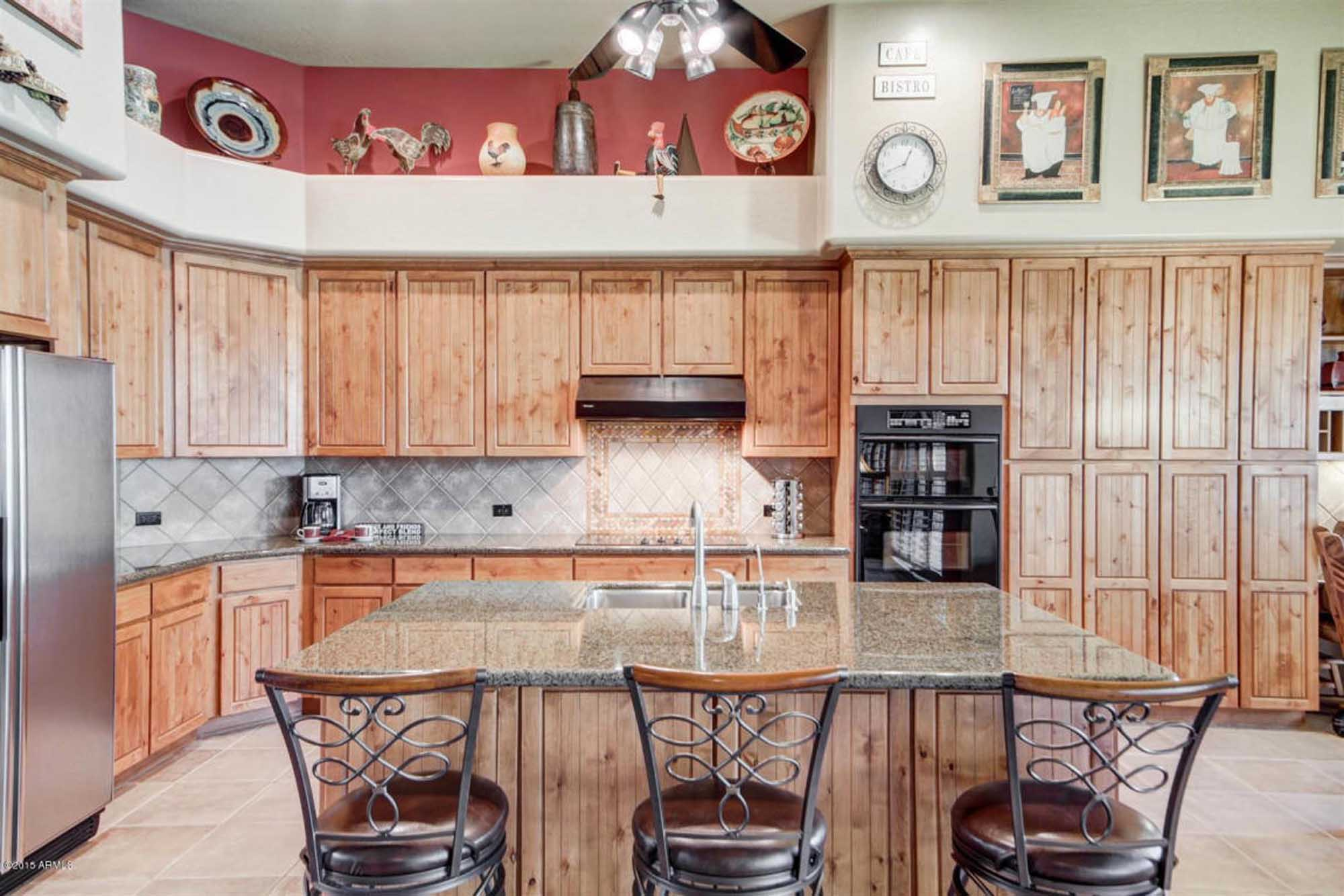 Old kitchen design with cabinets