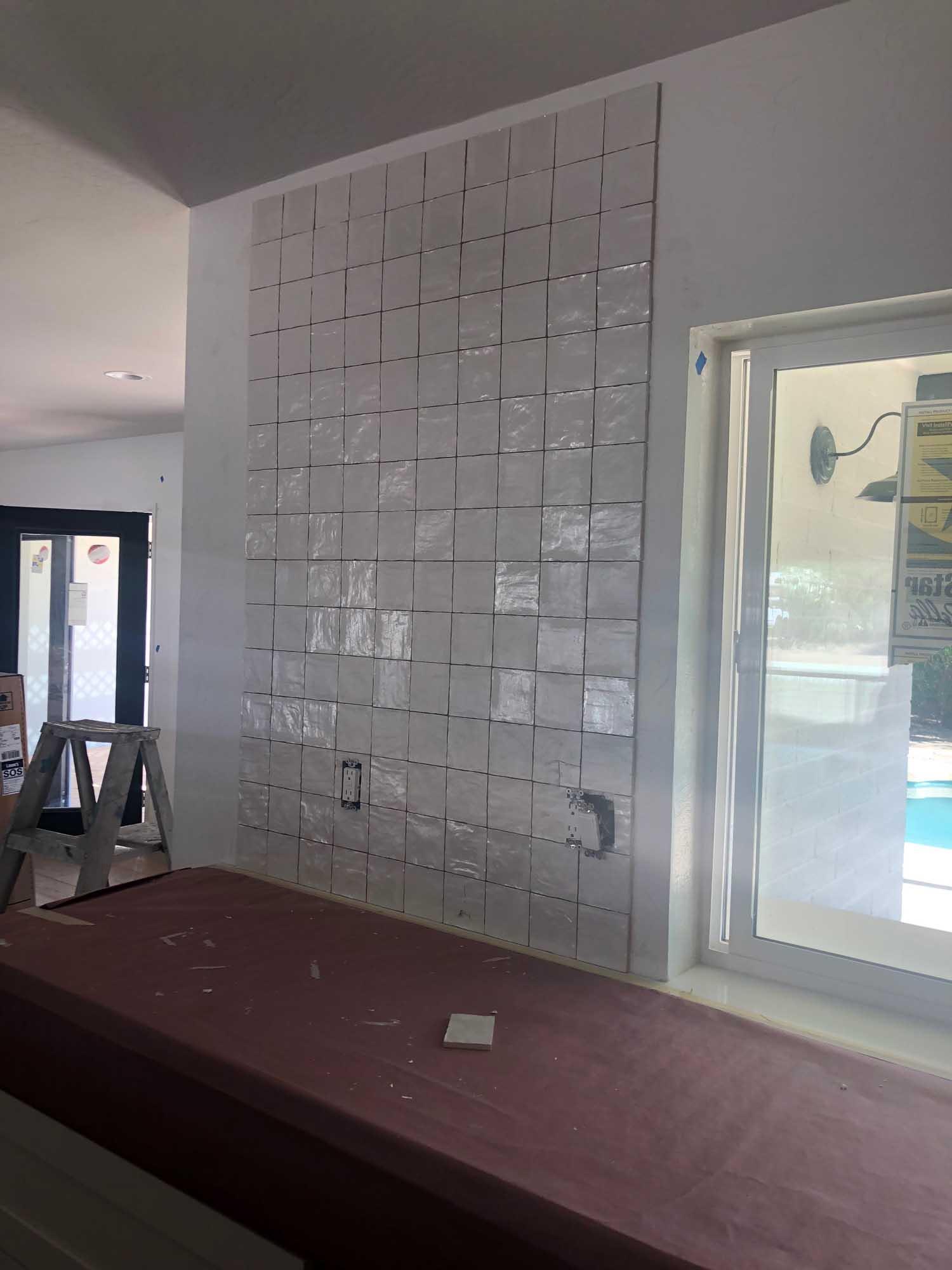Ongoing wall renovation