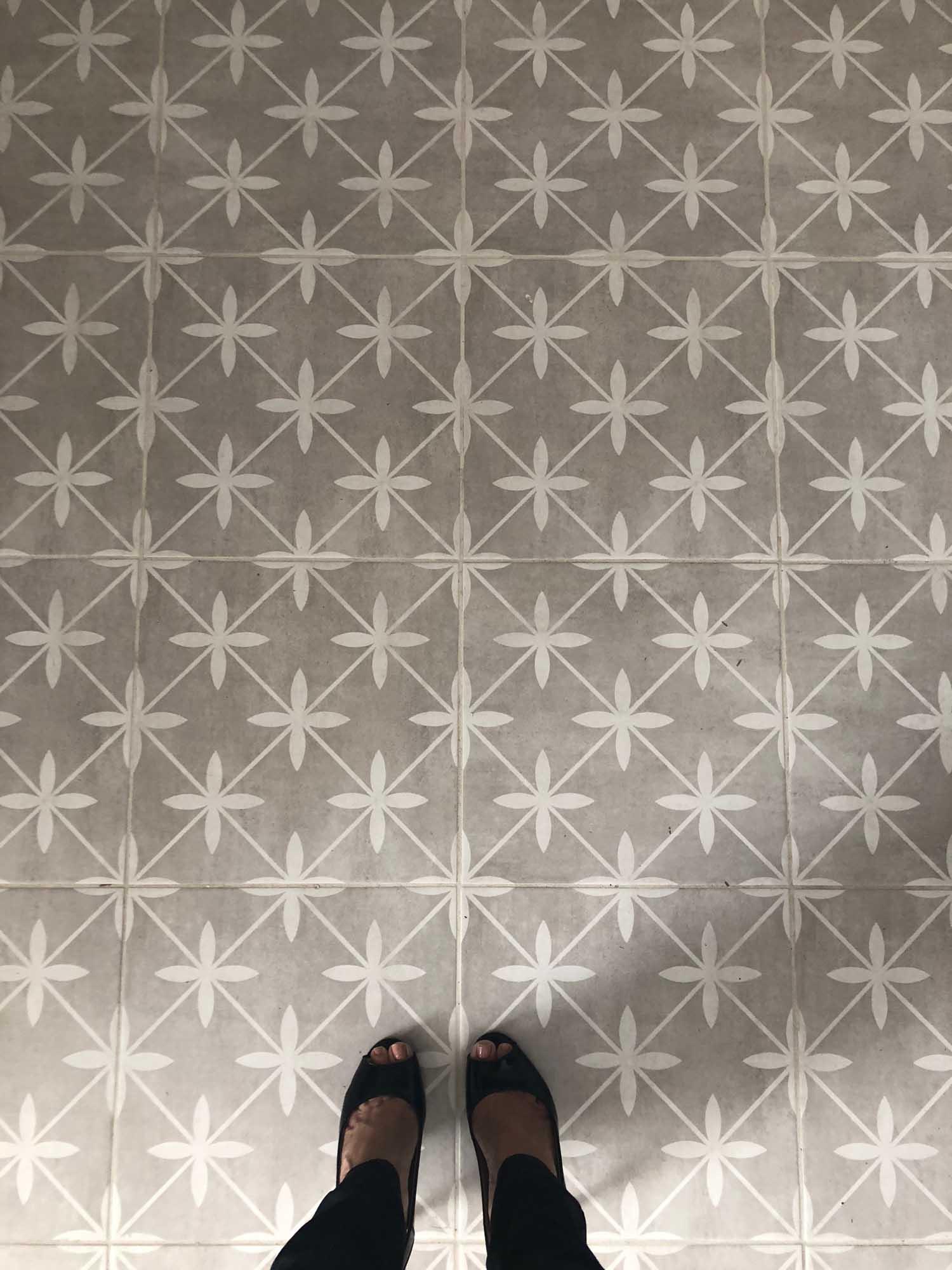 Vintage decorative tile