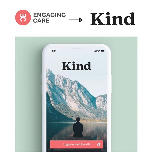 We were very excited about announcing our change of name, so excited that it might have gone a little too quick. So I'll say it again: Engaging Care becomes -  Kind.  #healthcare #digitalhealth #patientcare