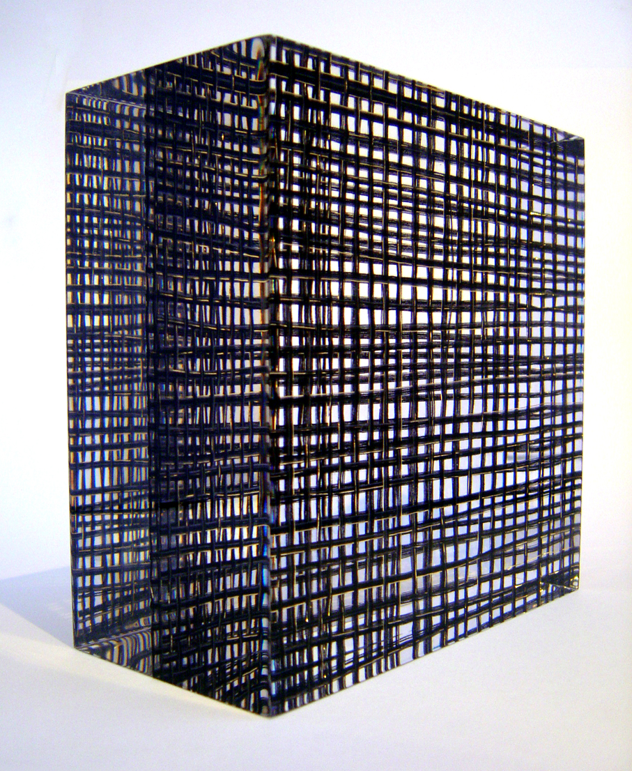 'Grid Weave' cotton, lurex & acrylic resin