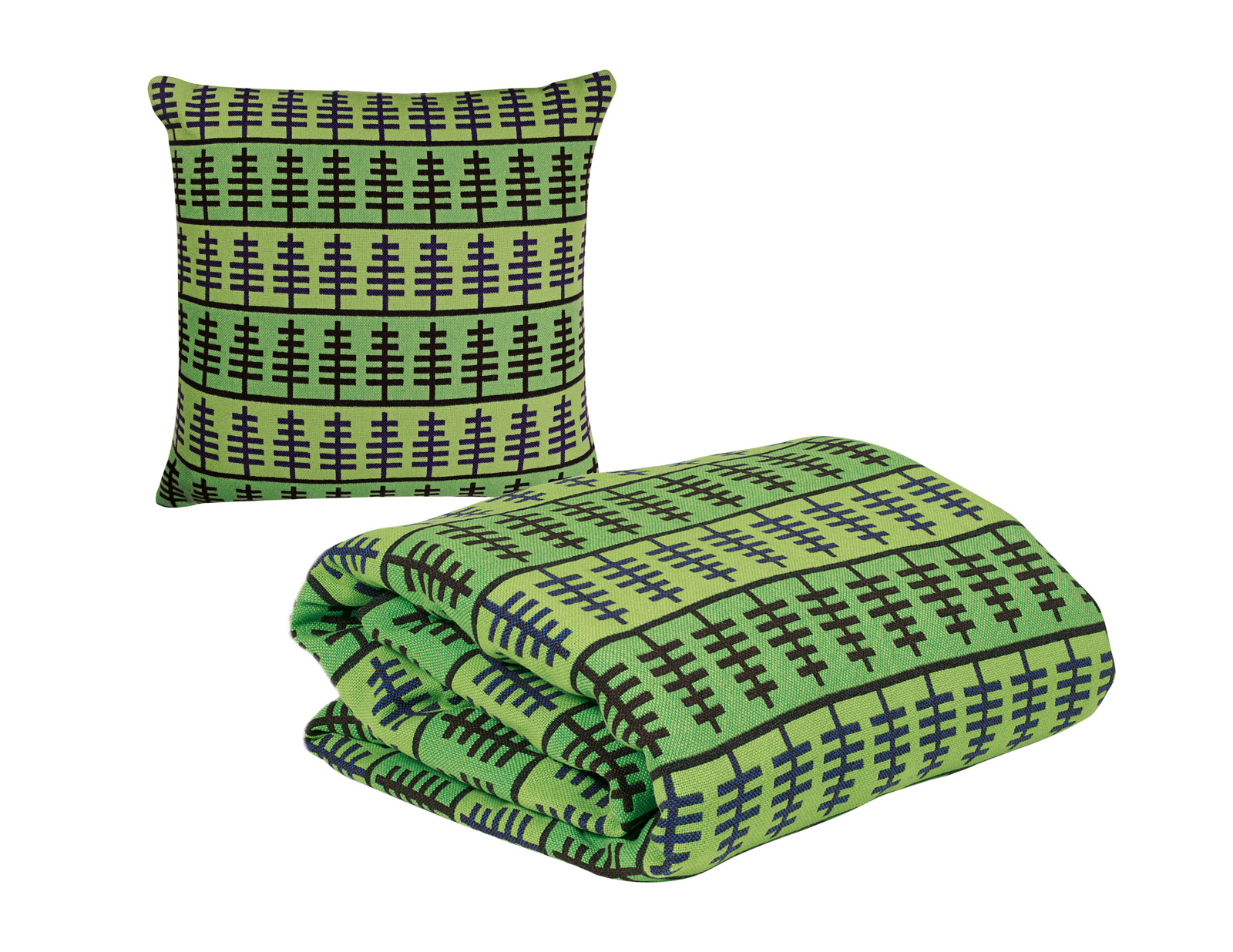 'Symetree' Laura Thomas for Heals Discovers 2011. Lambswool blankets and cushions.