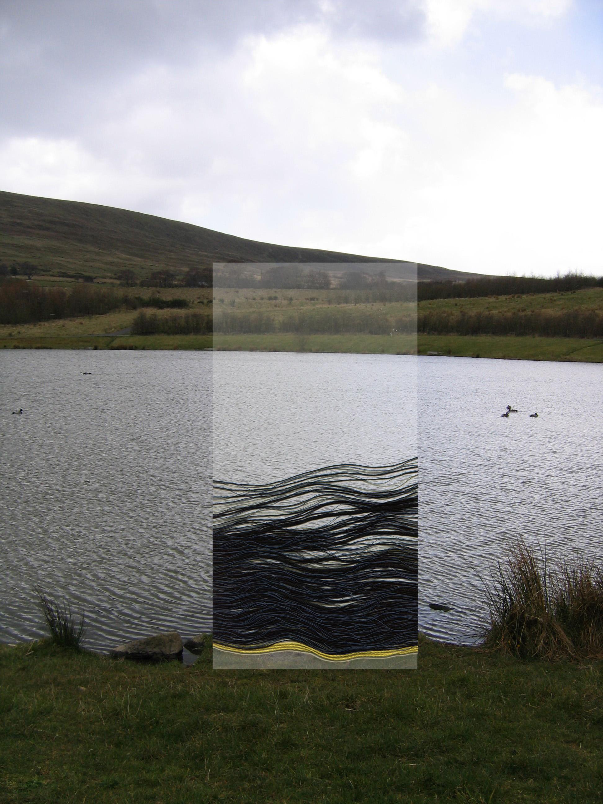Bleanavon public art proposal at Garn Lake, 2008.