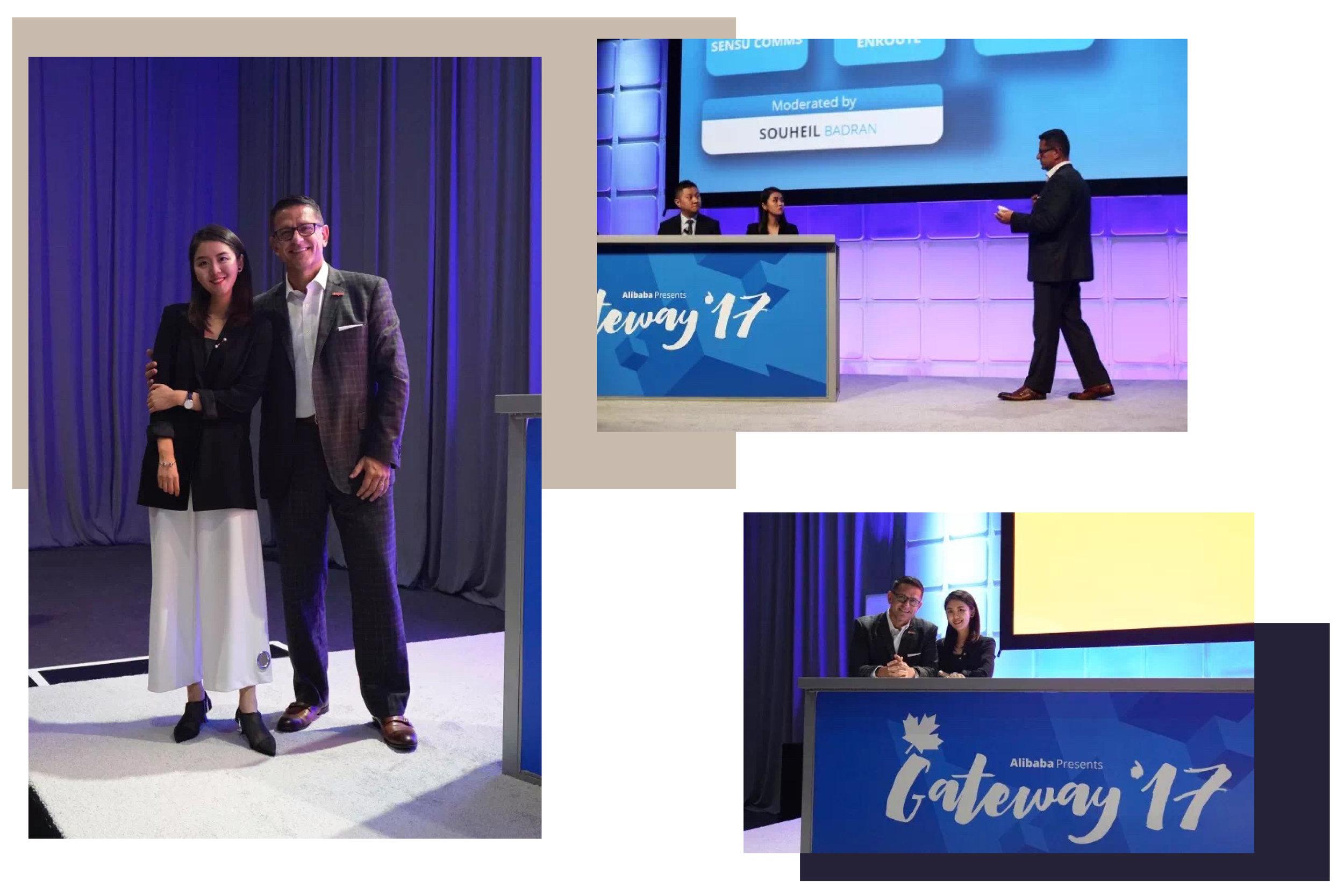 """- 受邀作為阿里巴巴 GATEWAY17 演講嘉賓,與「支付寶」北美總裁對談 """" 線上支付與新媒體行銷之關聯 """""""