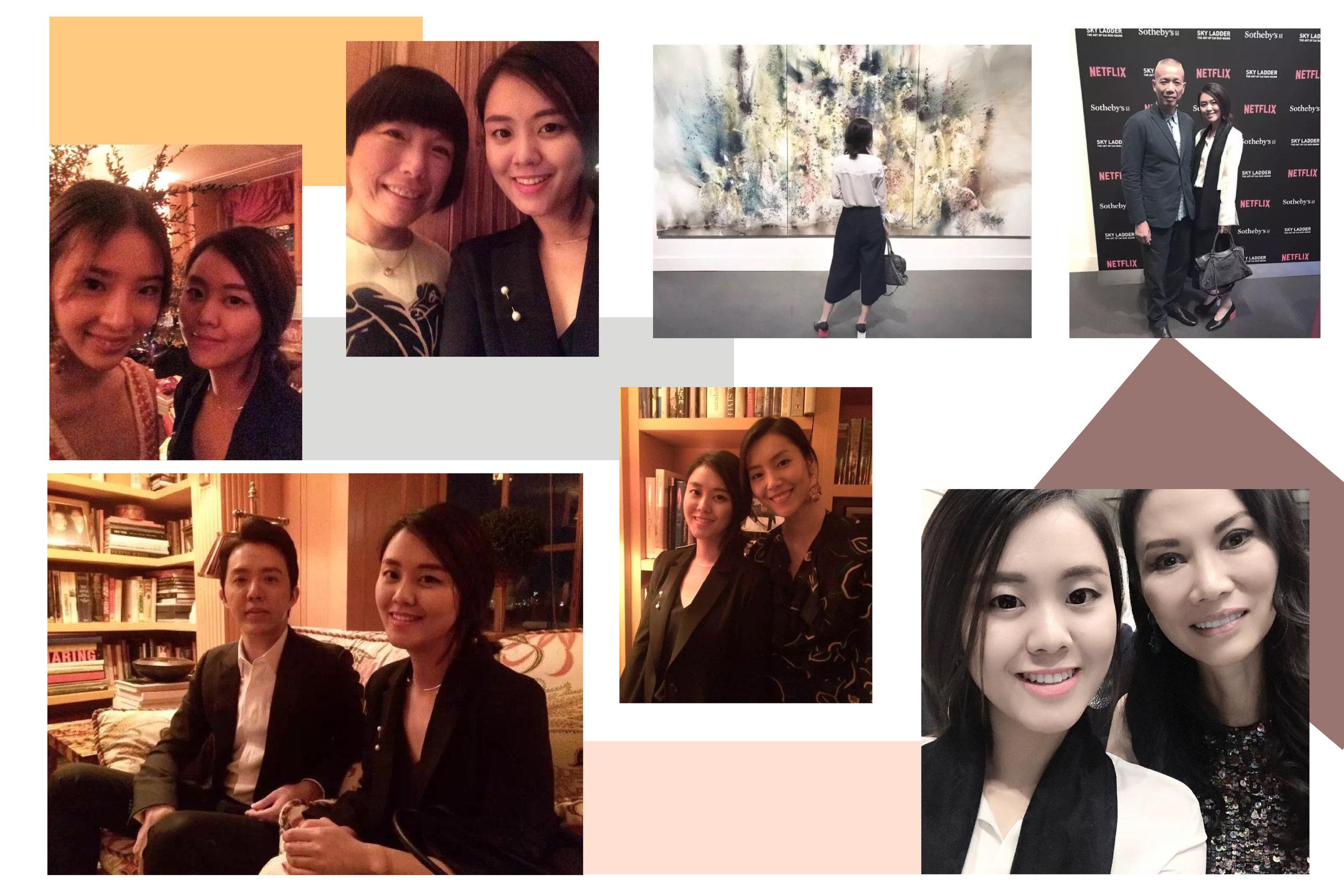 - Yuki與亞洲時尚博主Irene Kim、超模劉雯、音樂神童李雲迪、Vogue總編張宇、國際總裁鄧文迪、爆破大師蔡國強等名人合作之合影。