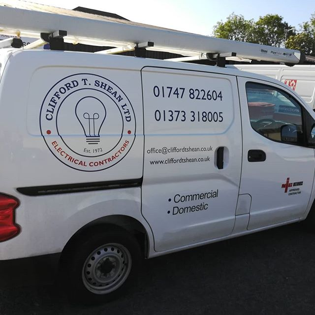 New logo on the vans! #electrician #electricianlife #localelectricalcontractors