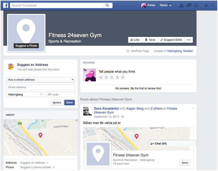A typical, fake Facebook page with no branding, no contact information but lots of activity