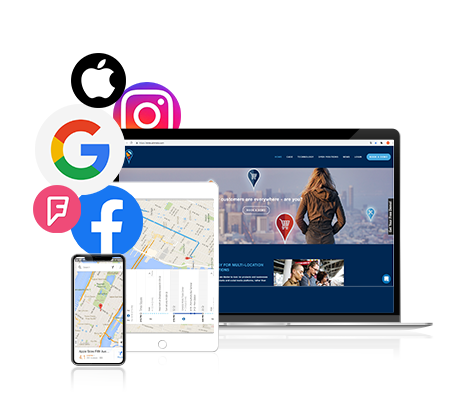 Listings - We help you to always keep your business information up-to-date on the biggest search, map, and social media platforms, including Google, Facebook, Instagram, Apple Maps, Twitter, Foursquare and thousands of other apps and online services people use to find local businesses.Upload your company information once and take control of your online locations on 100´s of search, maps and social media platforms. PinMeTo helps you take administrative control of existing locations, and generate missing locations for your branches as needed.