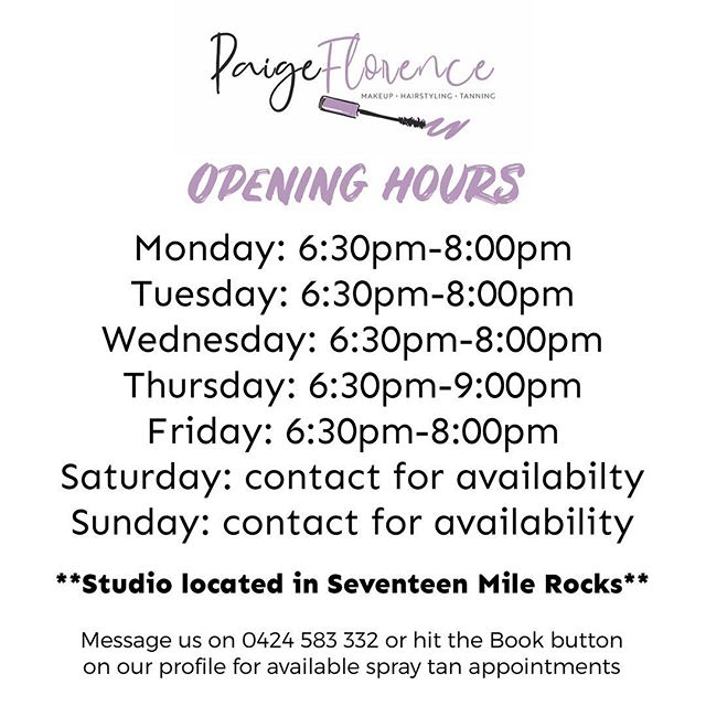 Happy Monday beauties! A reminder that we are open after hours for all your spray tanning, hair and makeup needs 🙌💕 Contact us to make your appointment 🗓