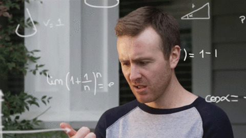 Man trying to work out a number with his fingers. What is Dyscalculia?