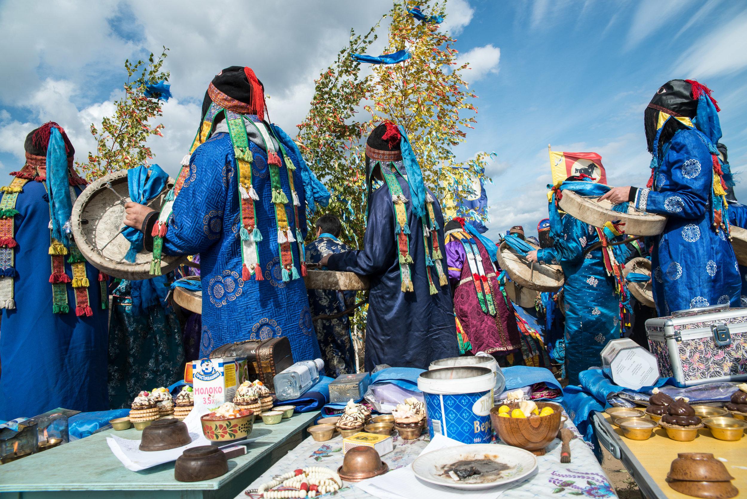 12 Buryat shamans calling master spirits of the Baikal Basin into birch trees (c) Alexander Newby.jpg