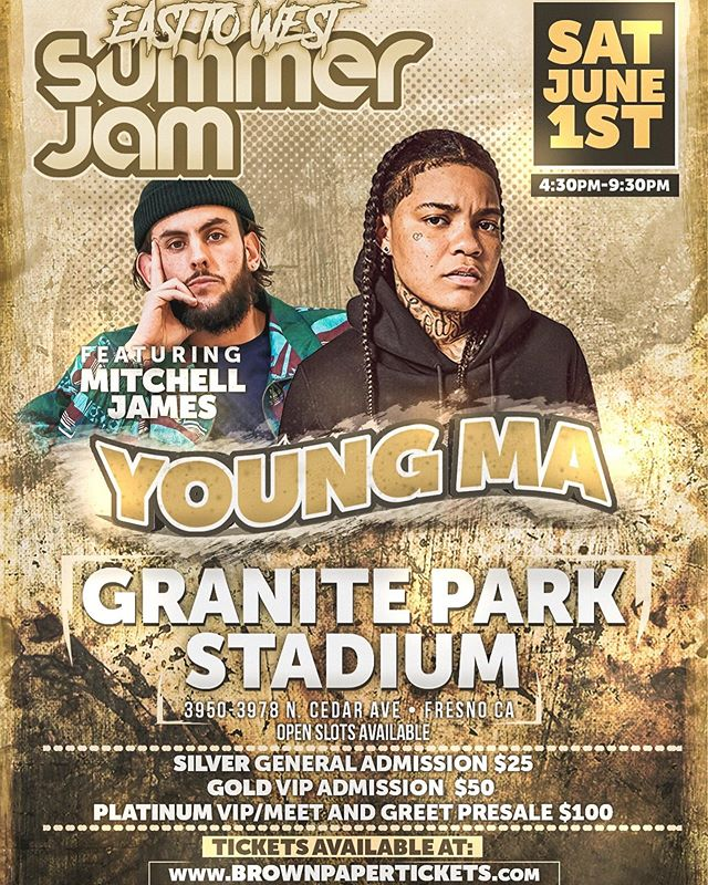 🚨🚨🚨FRESNO🚨🚨🚨 DM for your tickets!!!!! We are doing it in the biggest way possible June 1st with @youngma @fashawn @planetasiamedallions and @haiti_babii !!!!! • • • S/O to @rogueatlas for doing this for the city. • • • • #559 #fresno #youngma #fashawn #planetasia #haitibabii #w #t #f