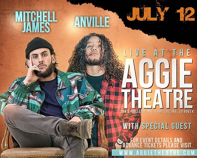 ‼️JUST ANNOUNCED‼️ 🚨TICKETS IN THE BIO🚨 @anville.will and I live at @aggietheatre • Hosted by Flo 107.1's @lance_mijares • Featuring @d1._.dev @drinkfirstt #miahsky #22crew #enlightenedartists #jaedyngarcia and more! • Come out and show your support! • • • #foco #fortcollins #coloradohiphop #denvercolorado #denverhiphop #localmusic #aggie #aggietheatre #downtownfortcollins #anville #colorado_creative #coloradosprings #fortcollinstattoo #fortcollinscolorado #fortcollinsmusic #greeleycolorado #w #livemusicphoto #livemusic #lostinthesauce #humblerap