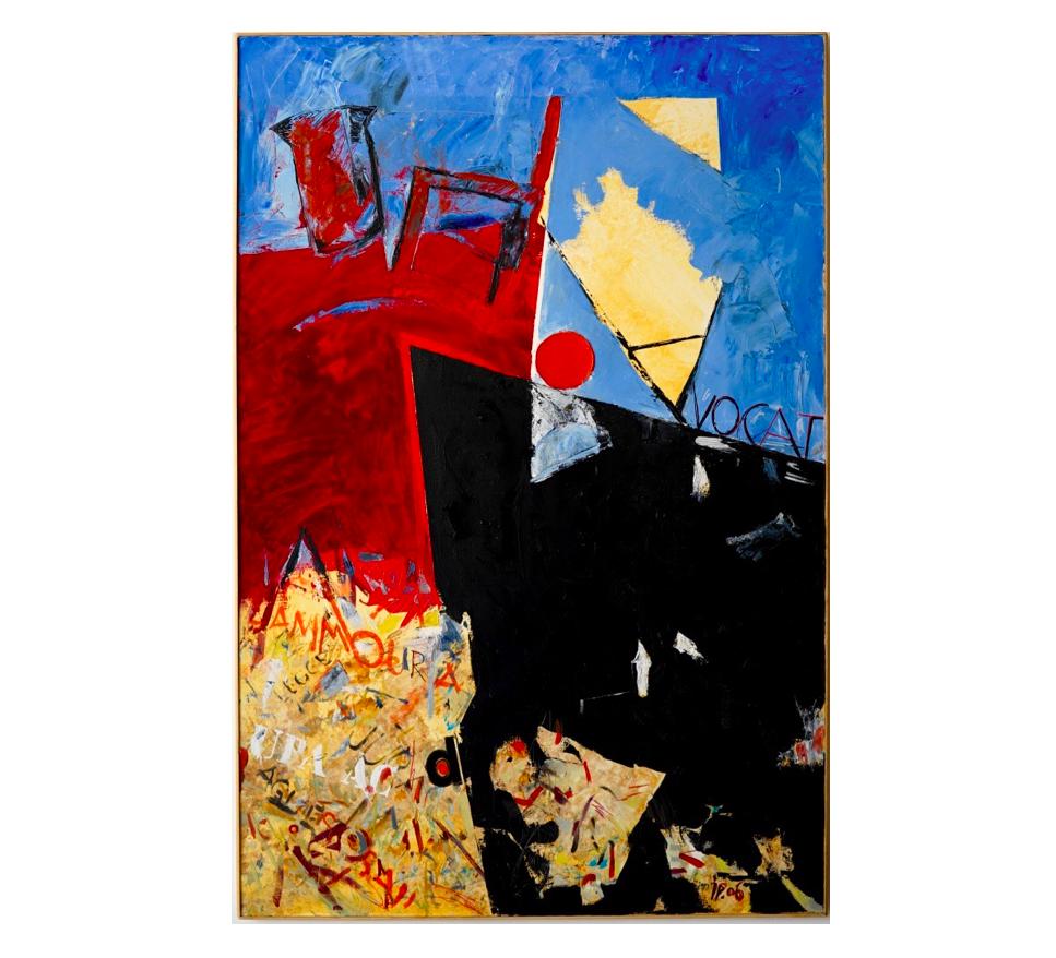 Avocat, Novembre 1983   Jean Percet, Acrylique, 146 x 97 cm