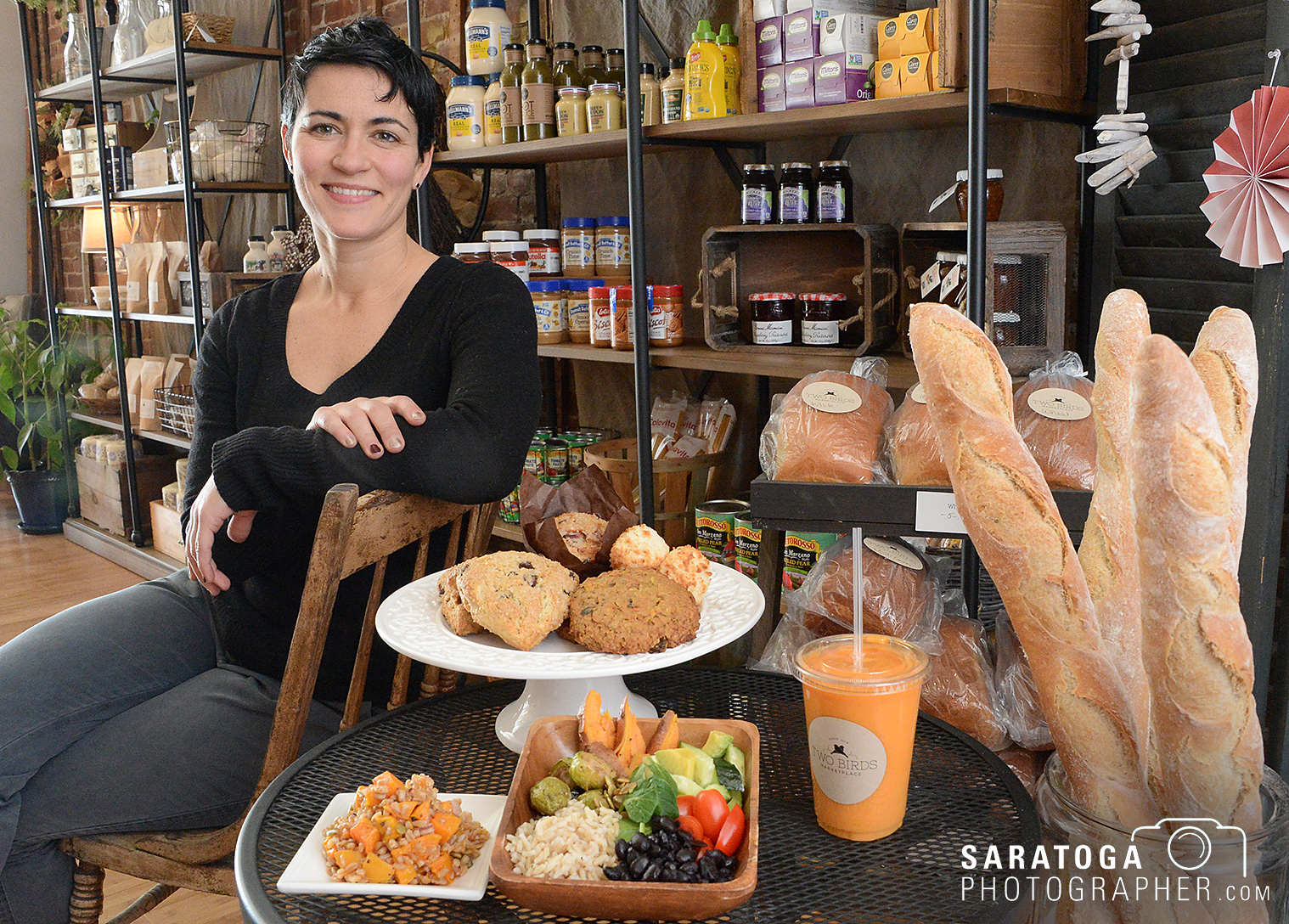 Linnaea DiNallo has opened a new business, Two Birds Marketplace, next door to well-known Iron Roost in Ballston Spa.