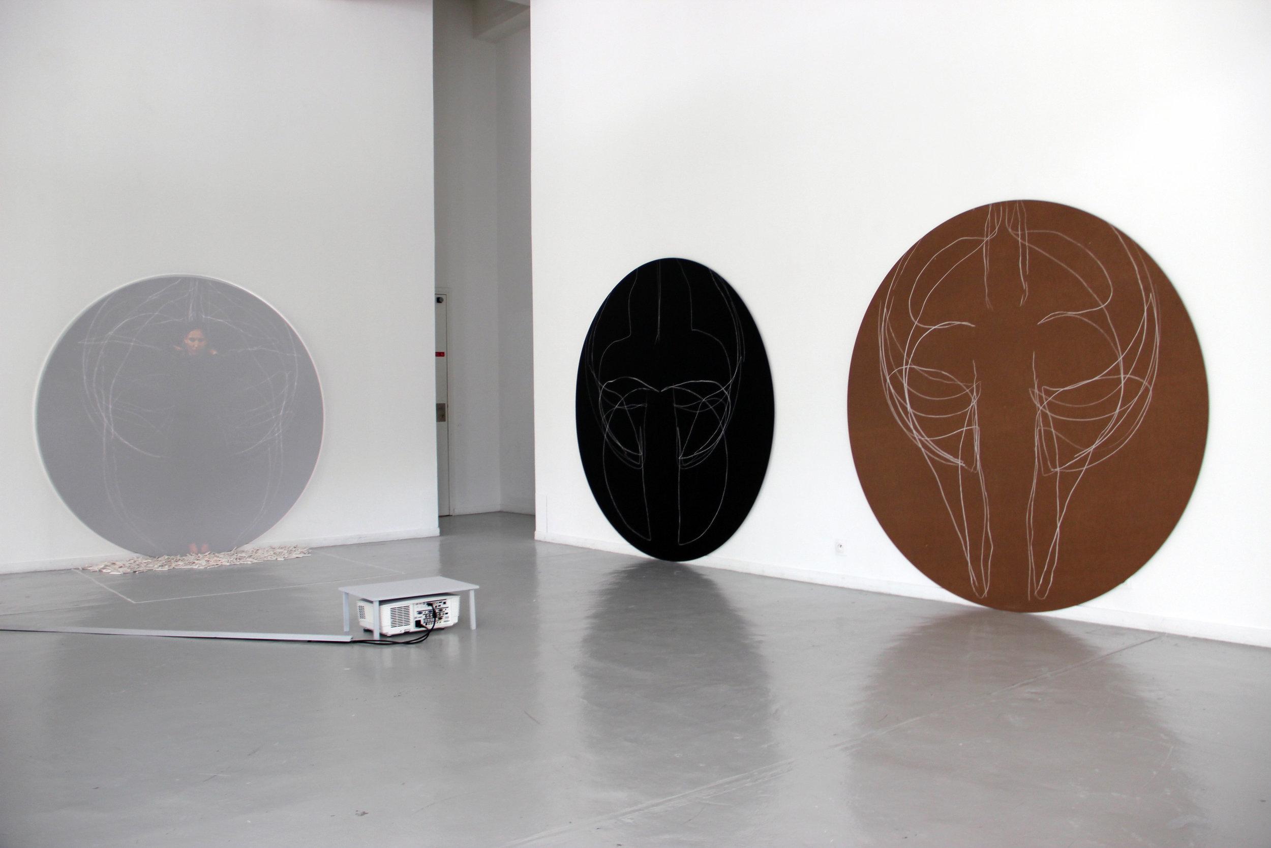 Etude ( cercle + projection).JPG