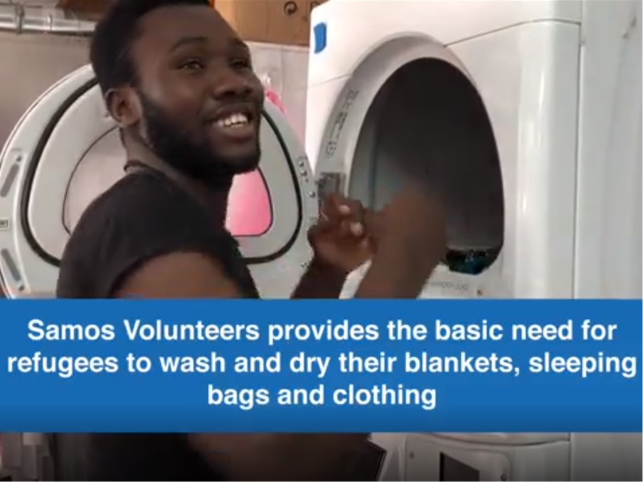 samos - samos volunteers - We funded the rent for the Samos Volunteers' laundry station helping 1500 people thoroughly wash their clothes. It's considered one of the most important projects since there are no other laundry facilities despite bacteria, bed bugs, scabies and lice being prevalent in camp.