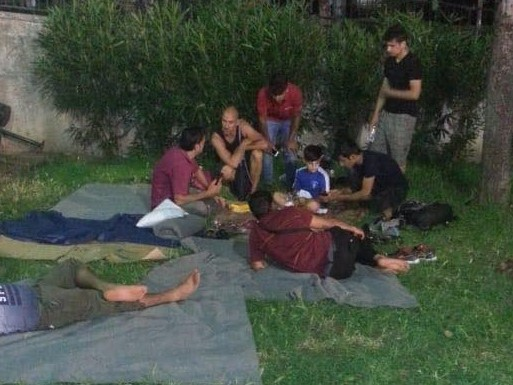 Athens - one human race - We funded flip-flops, t-shirts, sleeping bags and more for young Syrian-Kurdish men and boys. Left with nowhere else to go they were homeless and sleeping in a park when Rando met them and had to help.