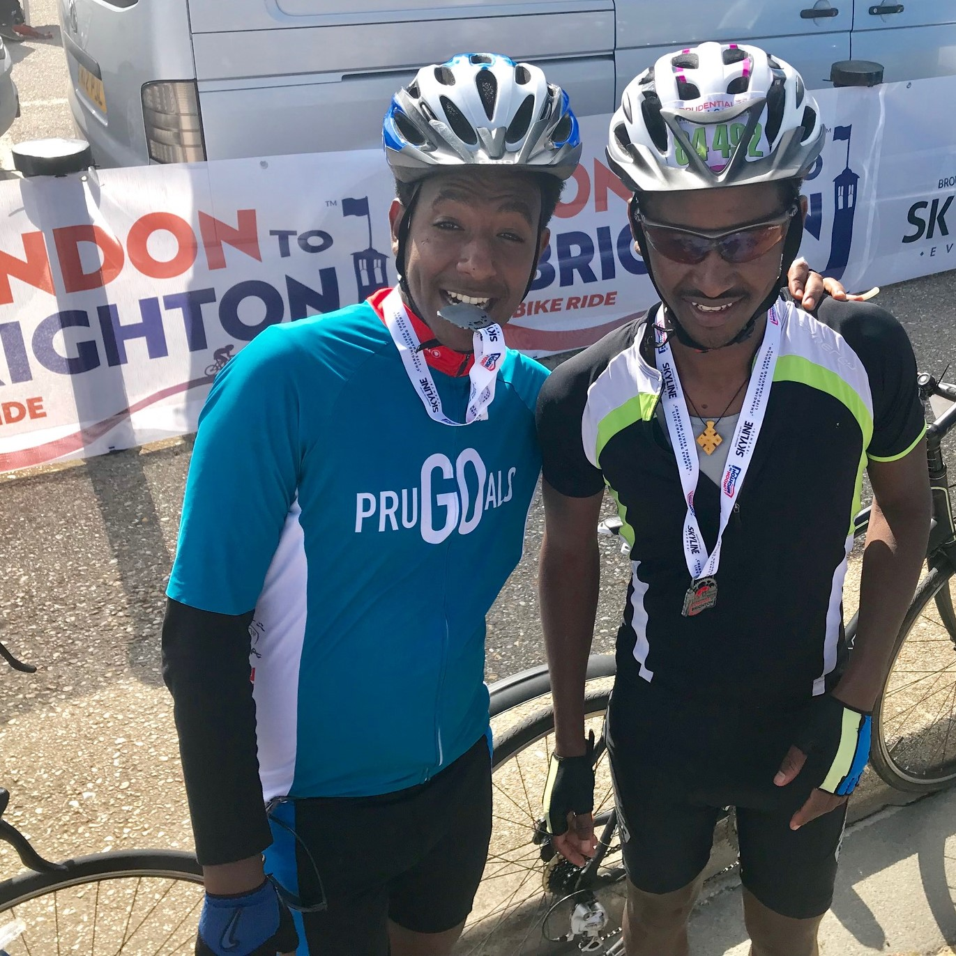 Mussie & Okubit's london to brighton - Raised £450