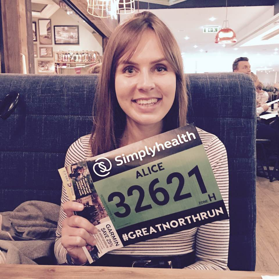 alice's great north run - Raised £775
