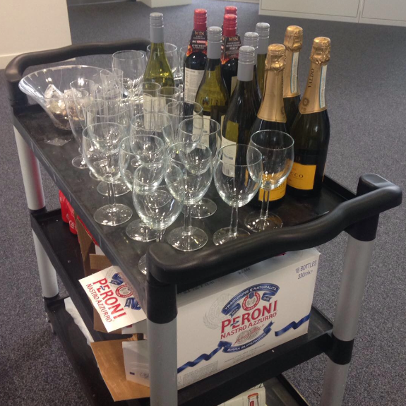 friday booze trolley - Raised £3,500