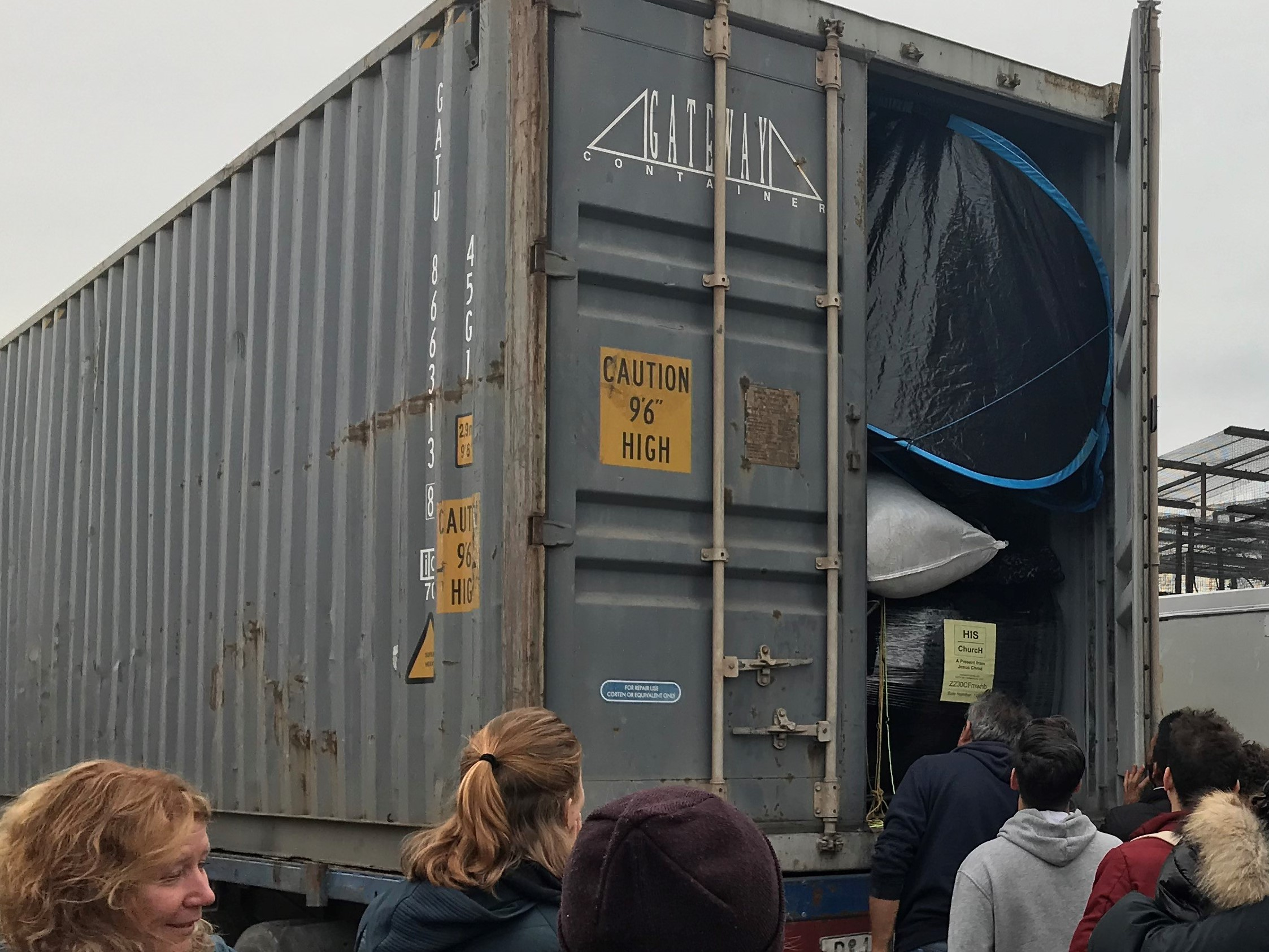 vial camp, Chios, Greece - Refugee Biryani and Bananas are sending a container of aid to Chios and Samos full of new socks, boxers, jogging bottoms, hoodies and t-shirts to provide much-needed clothes to over 3000 refugees, thanks to fundraising in partnership with Donate4Refugees.