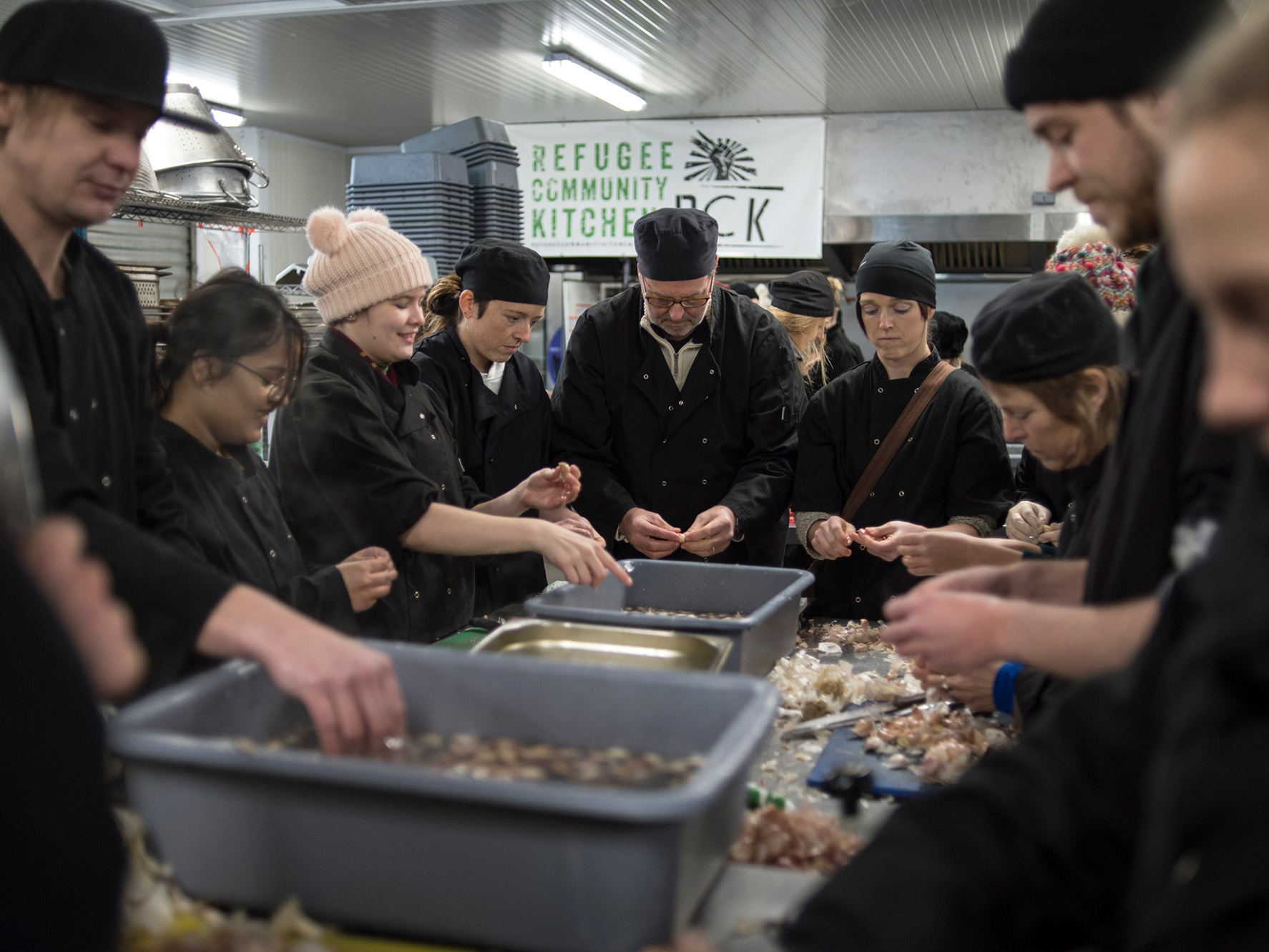 """refugee community kitchen (RCK) - refugeecommunitykitchen.com/volunteer""""We are in constant need of volunteers. We can use your skills in the Calias kitchen for a few hours, a few days or even longer so please give whatever time you can spare."""""""